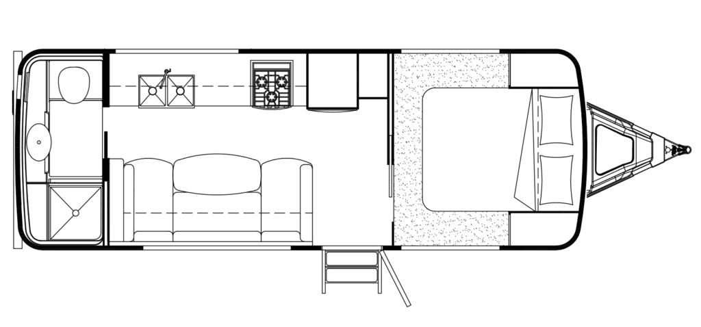 Boreal 23FB Travel Trailer Floor Plan